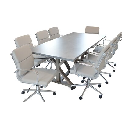 "Rhead Rectangular 30""H x 40""W x 84""L Conference Table"