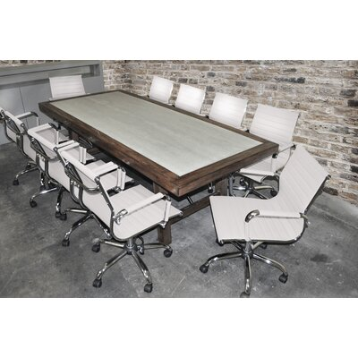 "Quijada Rectangular 30""H x 42""W x 92""L Conference Table Set Finish: White"