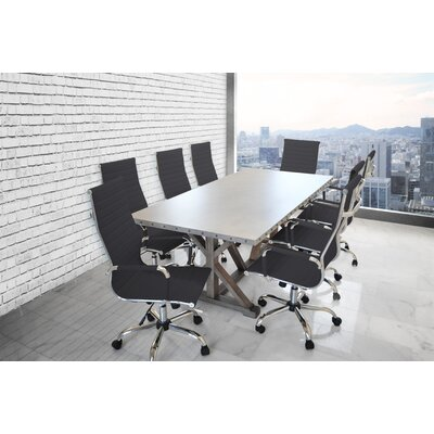 "Rhead Rectangular 30""H x 40""W x 84""L Conference Table Set"