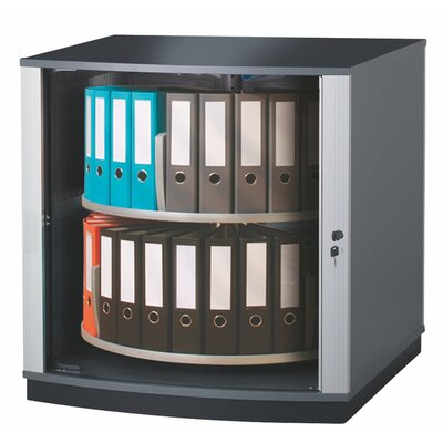 """Lockfile Binder and File Carousel Cabinet 37"""" H Two Shelf Shelving Unit"""