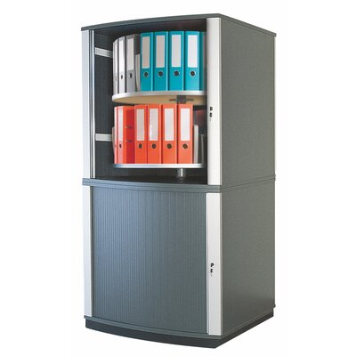 "Lockfile Binder and File Carousel Cabinet 71"" H Four Shelf Shelving Unit"