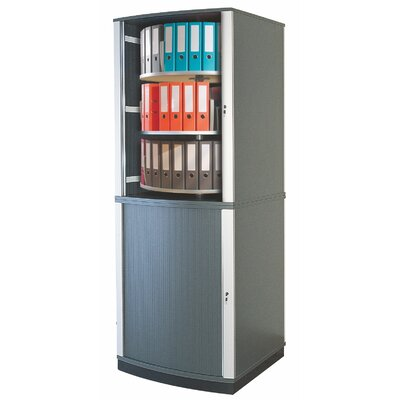 "Lockfile Binder and File Carousel Cabinet 99"" H Six Shelf Shelving Unit"