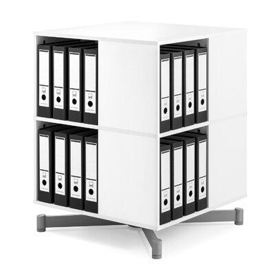"""Cube Binder and File Carousel 34"""" H Two Shelf Shelving Unit"""