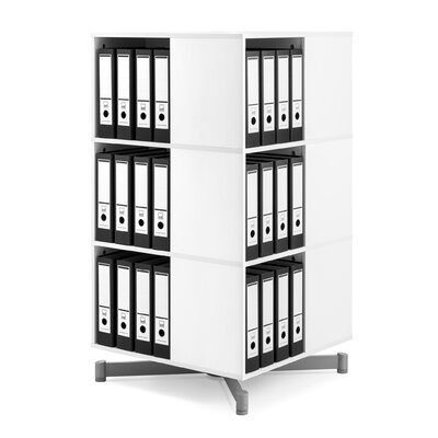 "Cube Binder and File Carousel 48"" H Three Shelf Shelving Unit"