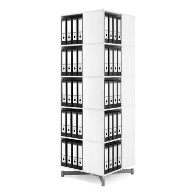 "Cube Binder and File Carousel 75"" H Five Shelf Shelving Unit"