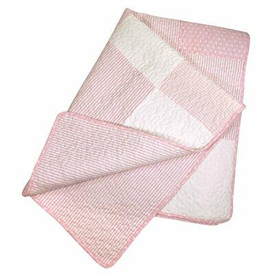 Dot Quilt Toddler Quilt Color: Pink