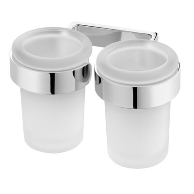Bisk Natura Double Tumbler and Holder
