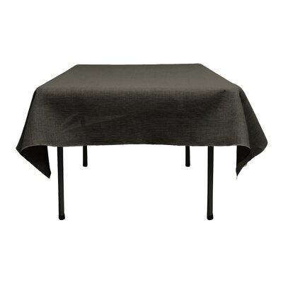"""Square Dyed Burlap Tablecloth Size: 52"""" W x 52"""" L, Color: Black"""