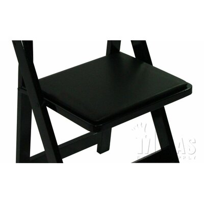 Classic Chair Replacement Seat Pad Finish: Black