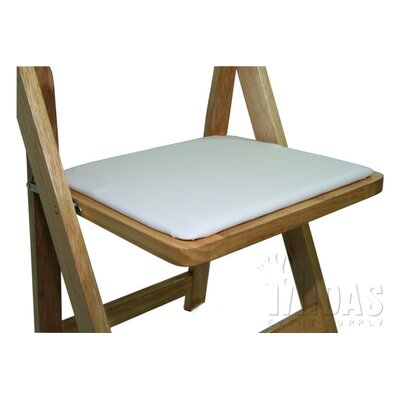 Classic Chair Replacement Seat Pad Finish: White
