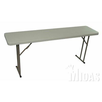 "Elite Rectangular Folding Table Size: 29"" H x 60"" W x 18"" D"