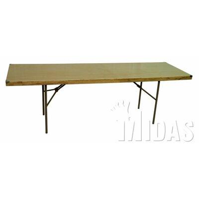 "Rectangular Folding Table Table Size: 30"" x 96"""