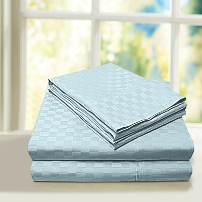 Beverly Hills 600 Thread Count 100% Cotton Egyptian Quality Sheet Set Color: Blue, Size: Twin
