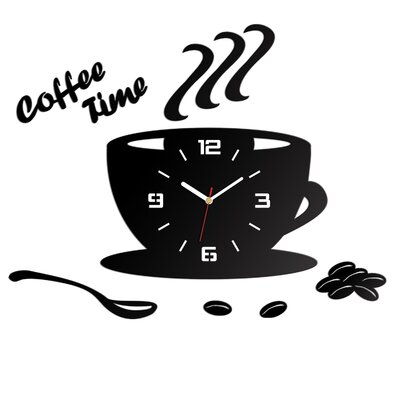 ModernClock Analoge Wanduhr Coffee Time 3D