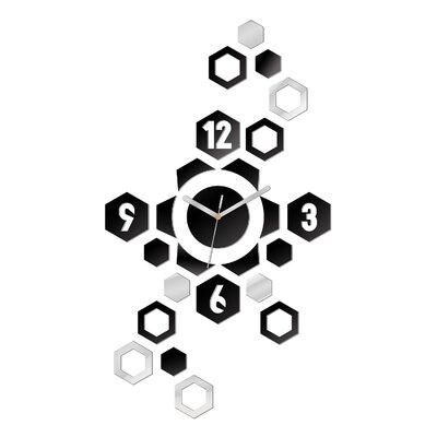 ModernClock Analoge Wanduhr Hexagon XXL