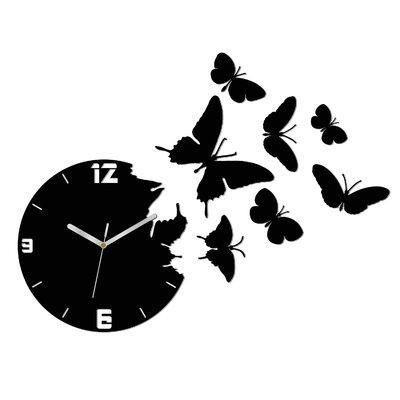ModernClock Analoge Wanduhr Butterfly