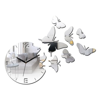ModernClock Analoge Wanduhr Butterfly - Mirror