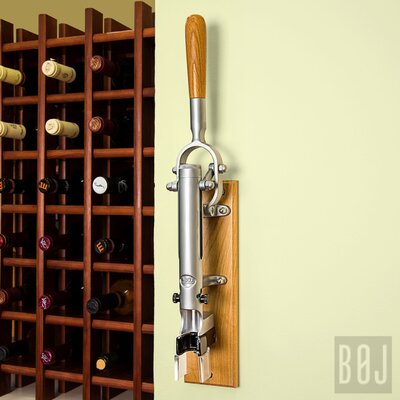 Boj Wall Mounted Corkscrew with Wood Backing