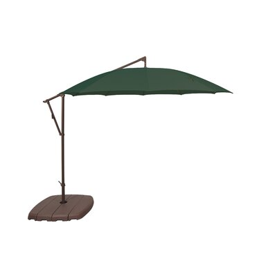 10' Round Cantilever Umbrella Fabric Color: Forest Green