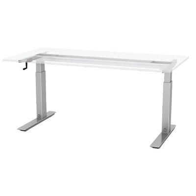 """Q Crank Standing Desk Base Size: 45.6"""" H x 72"""" W x 30"""" D"""