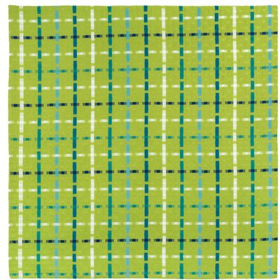 """Cotton Plaid Tablecloth Size: 54"""" x 90"""", Color: Lime Rickey"""