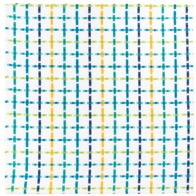 "Cotton Plaid Tablecloth Size: 54"" x 90"", Color: Pina Colada"