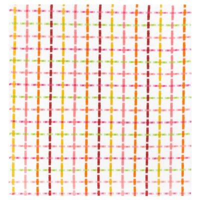 """Cotton Plaid Tablecloth Size: 54"""" x 90"""", Color: Fruit Punch"""