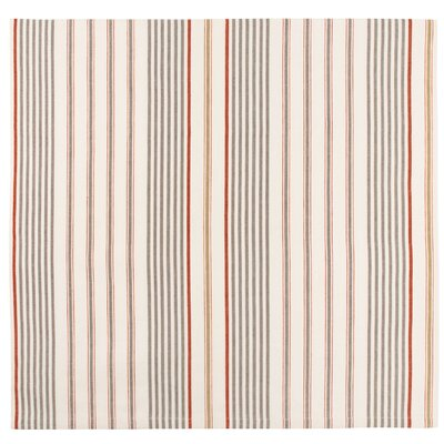 """Driftwood Cotton Striped Tablecloth Size: 60"""" x 60"""""""