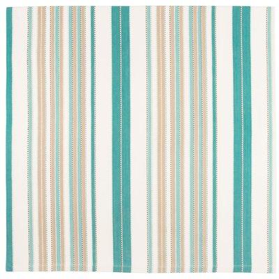"""Sandpiper Cotton Striped Tablecloth Size: 60"""" x 60"""""""