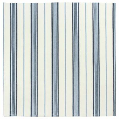 "Cotton Striped Tablecloth Size: 60"" x 60"""