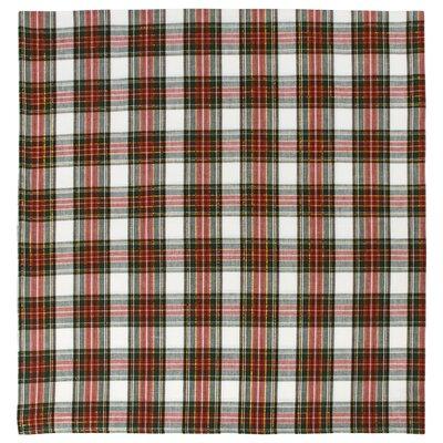 """Cotton Plaid Tablecloth Size: 60"""" x 60"""""""