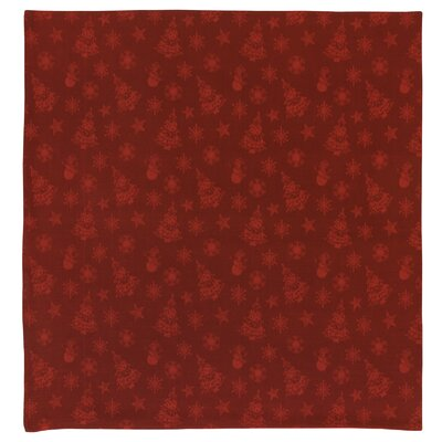 "Holidays Cotton Christmas Themed Jacquard Tablecloth Size: 60"" x 60"""