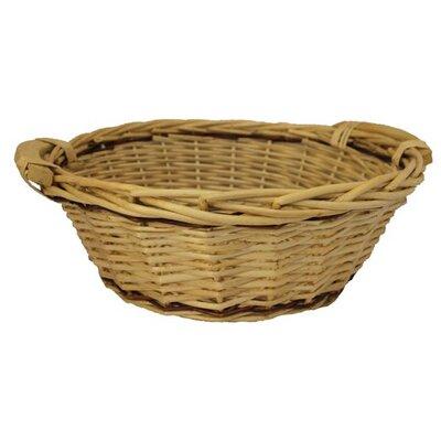 CandiGifts Natural Wicker Round Willow Basket
