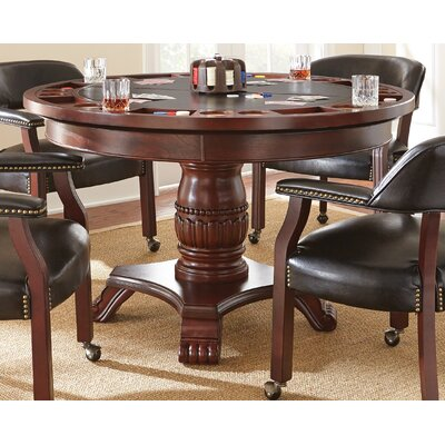Mcbride 5 Piece Dining Set Arm Chair Upholstery: Black, Table Top Finish: Brown