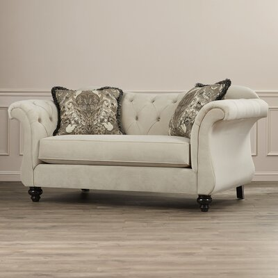 Devon Premium Tufted Upholstered Loveseat