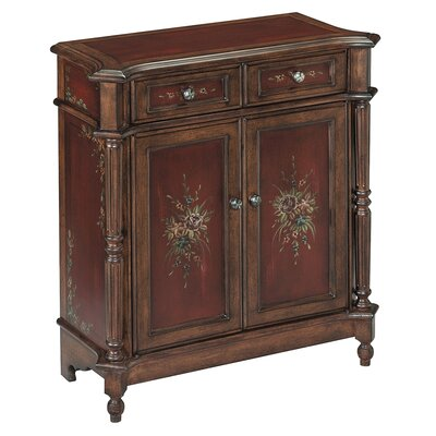 Cedar Grove 2 Drawer Burgundy Accent Chest