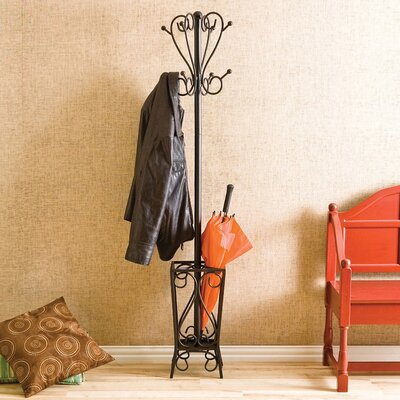 Reichman Metal Coat Rack with Umbrella Stand