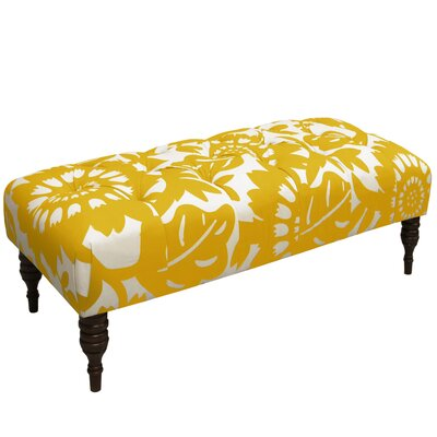 Baja Tufted Upholstered Bench Color: Sungold