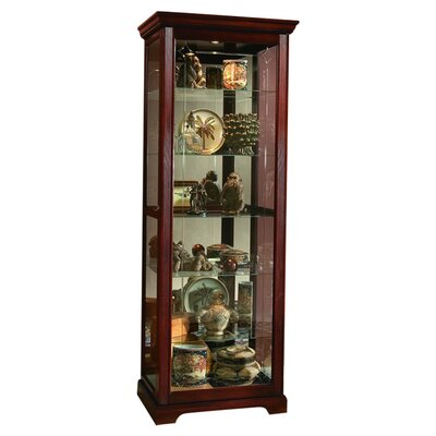 Logan Ryleigh Lighted Curio Cabinet Color: Victorian Cherry