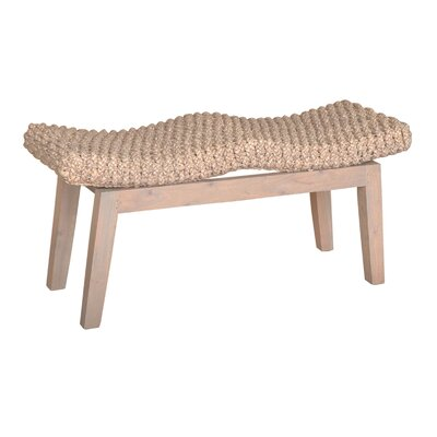 Vincenza Wood Bench Color: Grey Wash