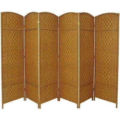 Macey 6 Panel Room Divider Color: Light Beige