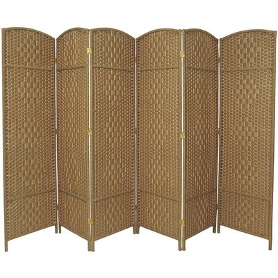 Macey 6 Panel Room Divider Color: Natural