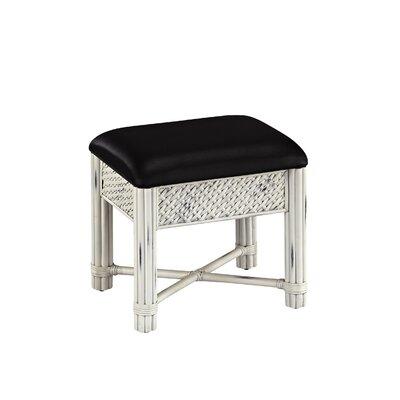 Dessie Vanity Bench Color: White