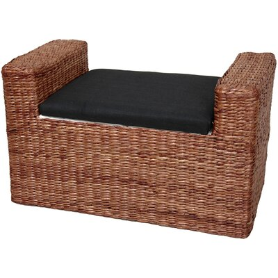 Kianna Fabric Storage Bench Color: Dark Brown