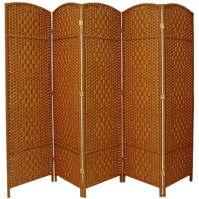 Anthurium 5 Panel Room Divider Color: Dark Beige