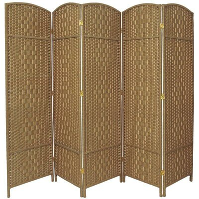 Anthurium 5 Panel Room Divider Color: Natural