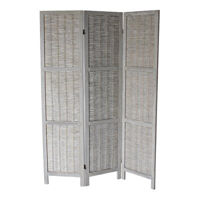 Dominique 3 Panel Room Divider Color: Gray