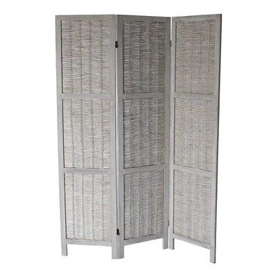 Dominique 3 Panel Room Divider Color: Gray