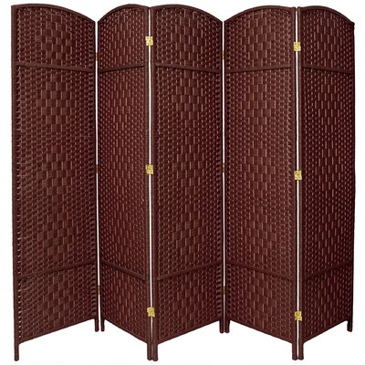 Anthurium 5 Panel Room Divider Color: Dark Red