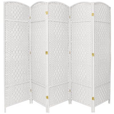 Anthurium 5 Panel Room Divider Color: White